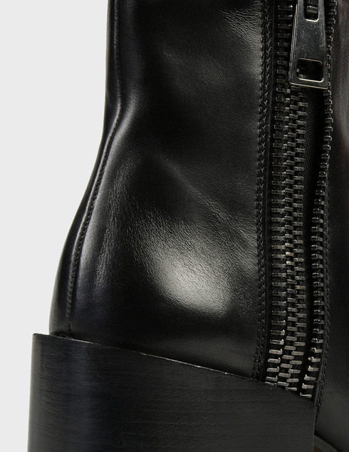 женские черные кожаные Ботинки Pertini 202W30242D1 - фото-5