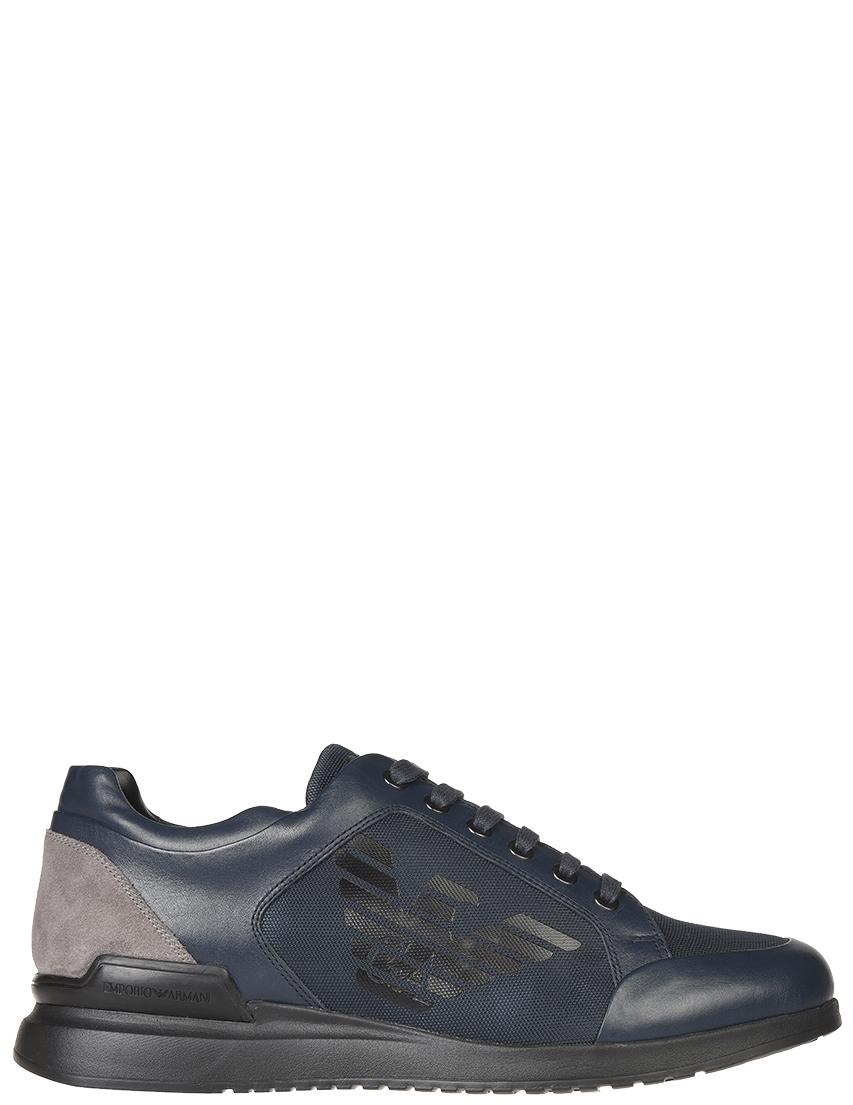 Мужские кроссовки Emporio Armani 518-blunotte_blue