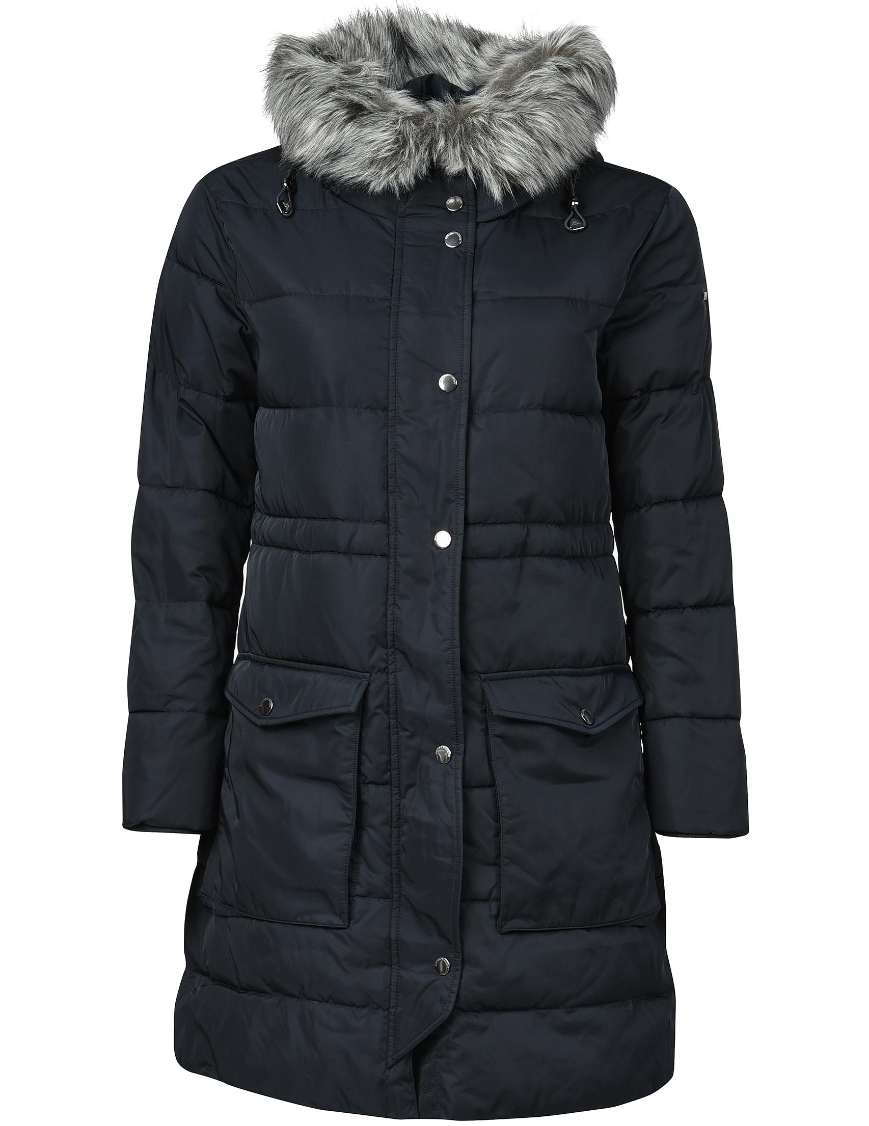 Купить Пальто, EMPORIO ARMANI, Синий, 100%Полиэстер, Осень-Зима