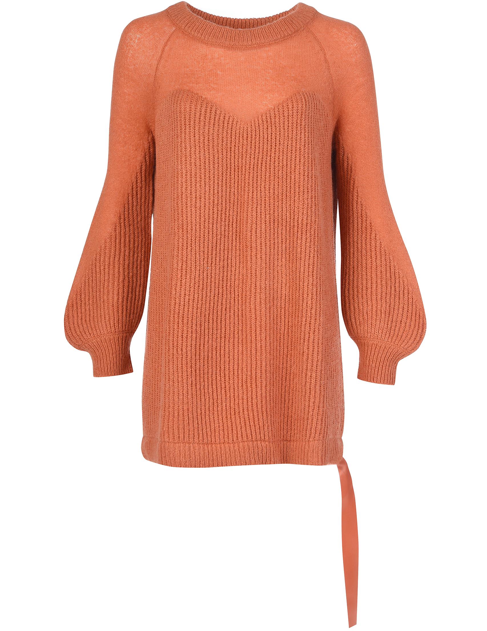 Купить Платье, TWIN-SET, Оранжевый, 57%Акрил 33%Полиамид 5%Мохер 5%Шерсть;100%Полиэстер, Осень-Зима