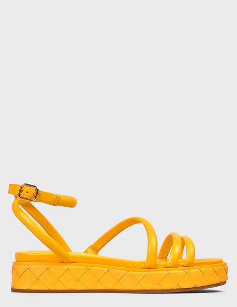 женские желтые Босоножки What For SS21WF143 - фото-6