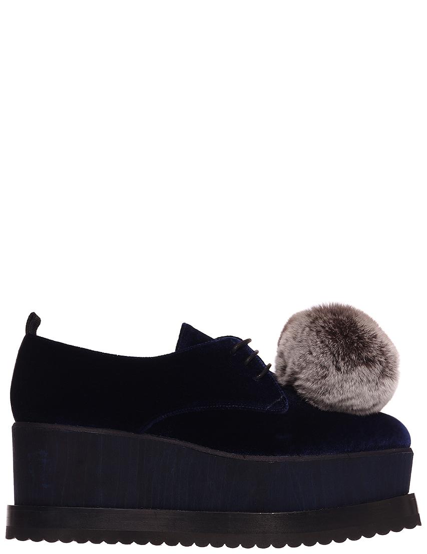 Купить Туфли, EDDY DANIELE, Синий, Осень-Зима