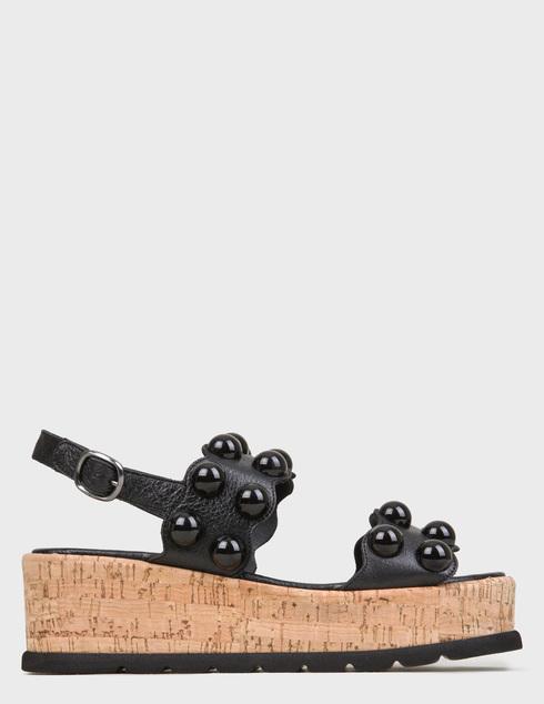 женские черные Босоножки Pertini 201W16693D1 - фото-6