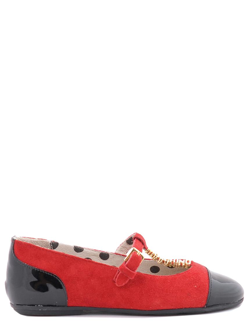 Детские туфли для девочек MOSCHINO 25375nero-rosso