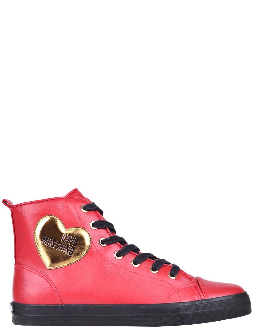 Женские кеды Love Moschino 15093-gold_red