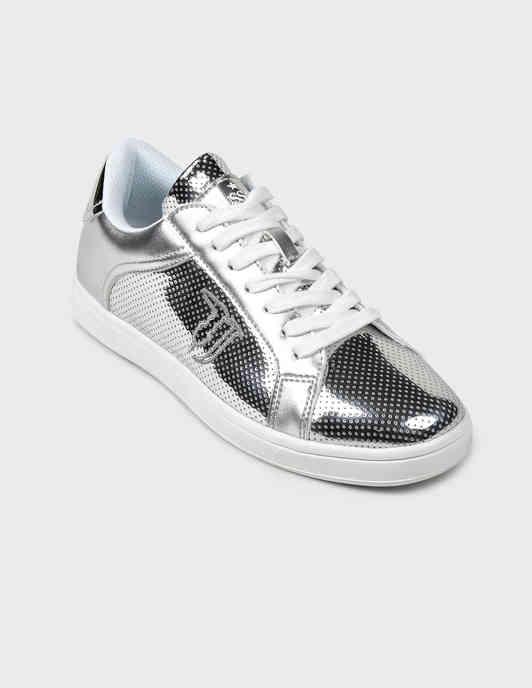 женские серебряные Кеды Trussardi Jeans 79A005289Y099998-M020 - фото-2