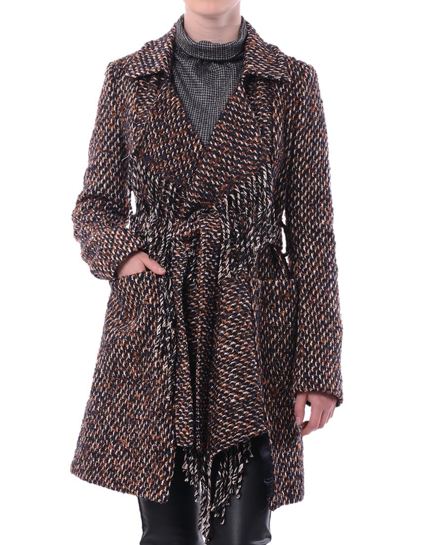 Купить Пальто, PATRIZIA PEPE, Коричневый, 58%Акрил 6%Альпака 18%Лана 2%Микро 2%Полиамид 14%Полиэстер, Осень-Зима