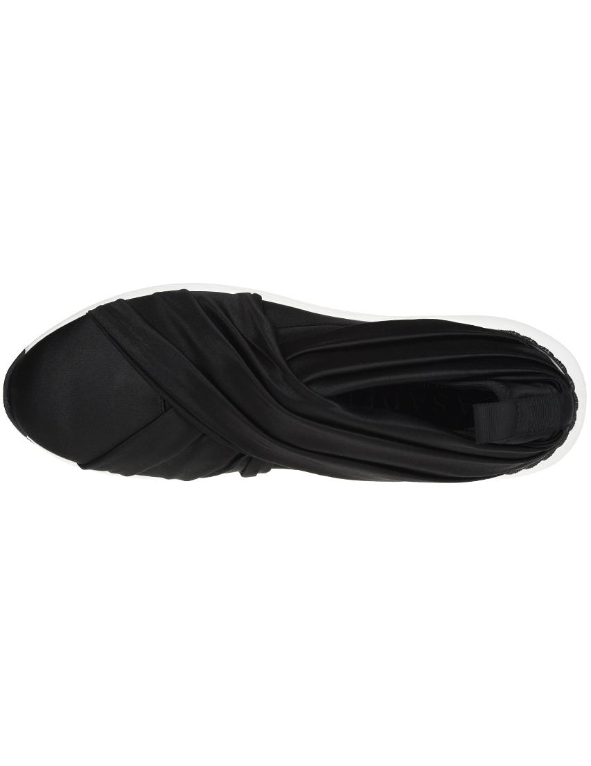 Текстильные чёрные кроссовки CASADEI (ITALY)