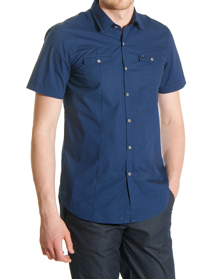 Купить Рубашка, GUESS BY MARCIANO, Синий, 100%Хлопок, Весна-Лето