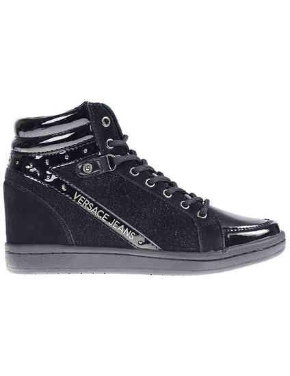 женские черные Сникерсы Versace Jeans VQBSI2-75440-899_black - фото-6