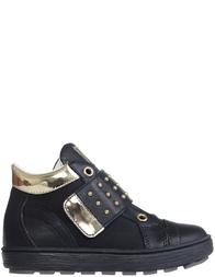 Детские ботинки для девочек Naturino 4196-nero-platino_black