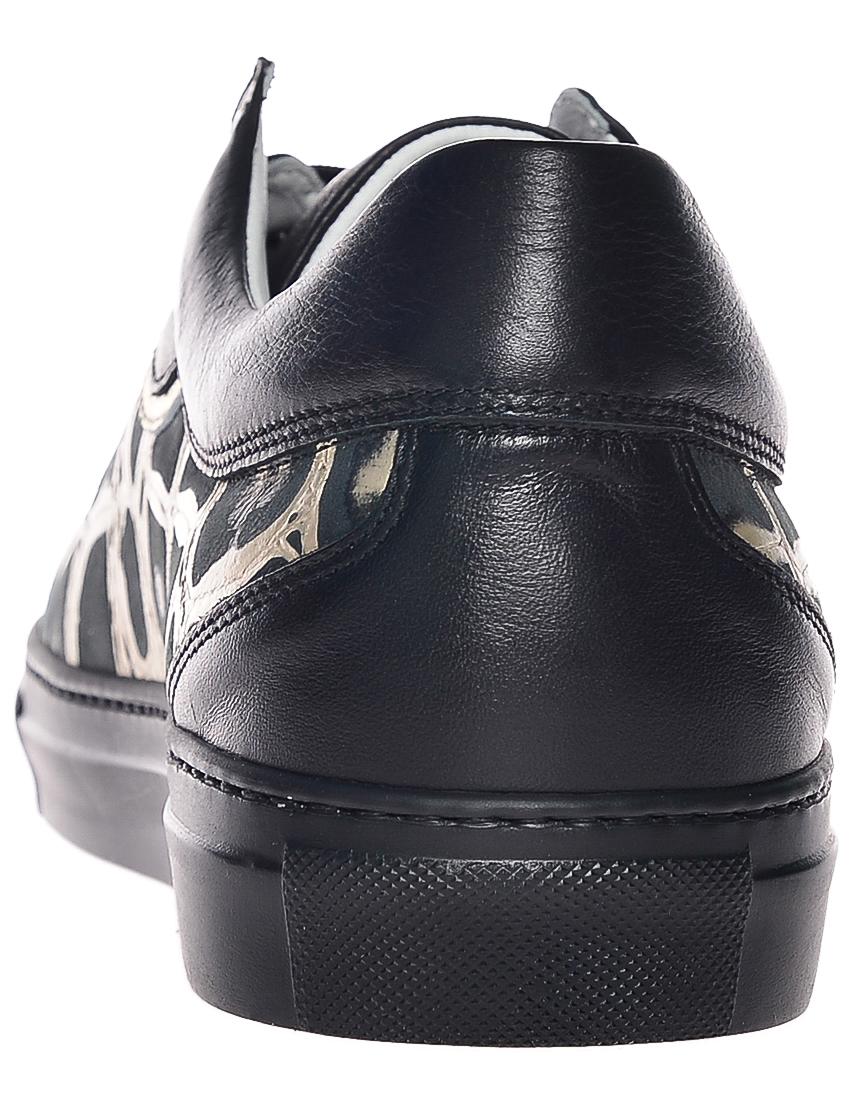 Фото 2 - мужские кеды  черного цвета
