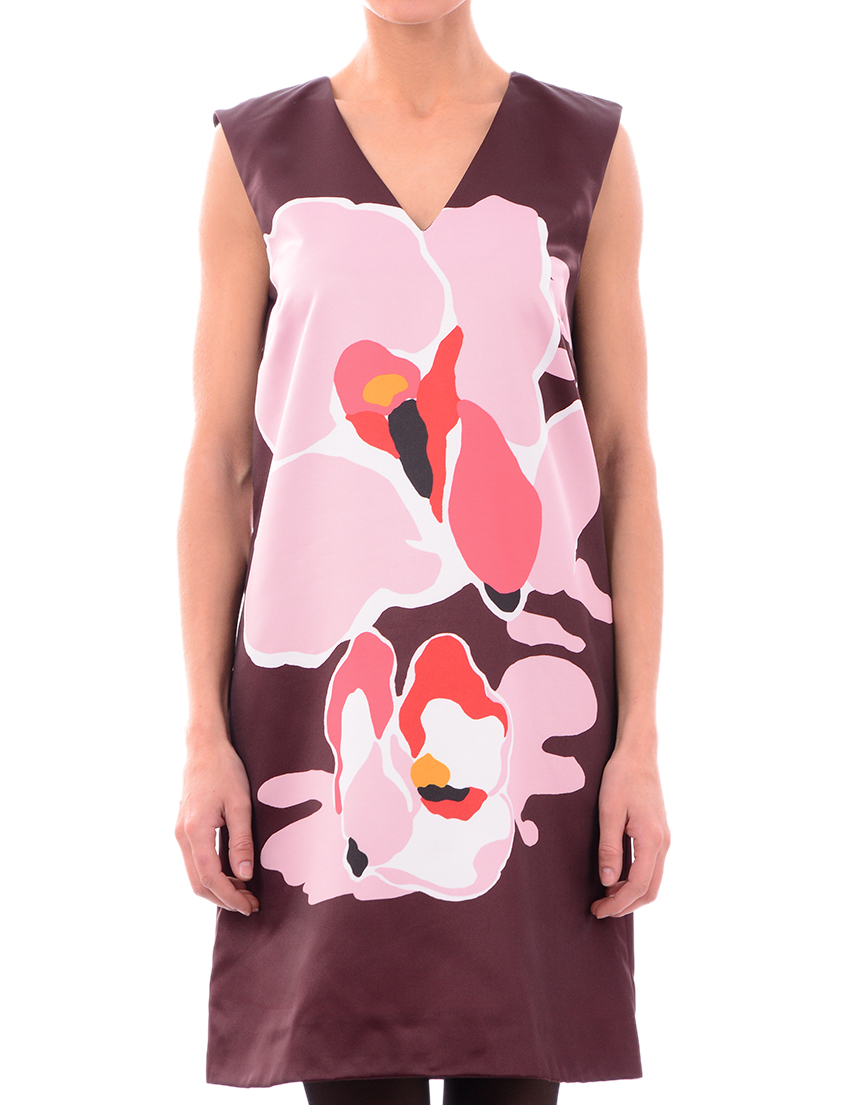Купить Платье, TWIN-SET, Многоцветный, 100%Полиэстер, Осень-Зима