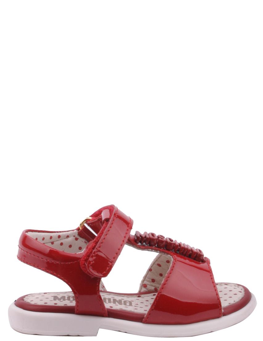 Детские босоножки для девочек MOSCHINO 25424-red