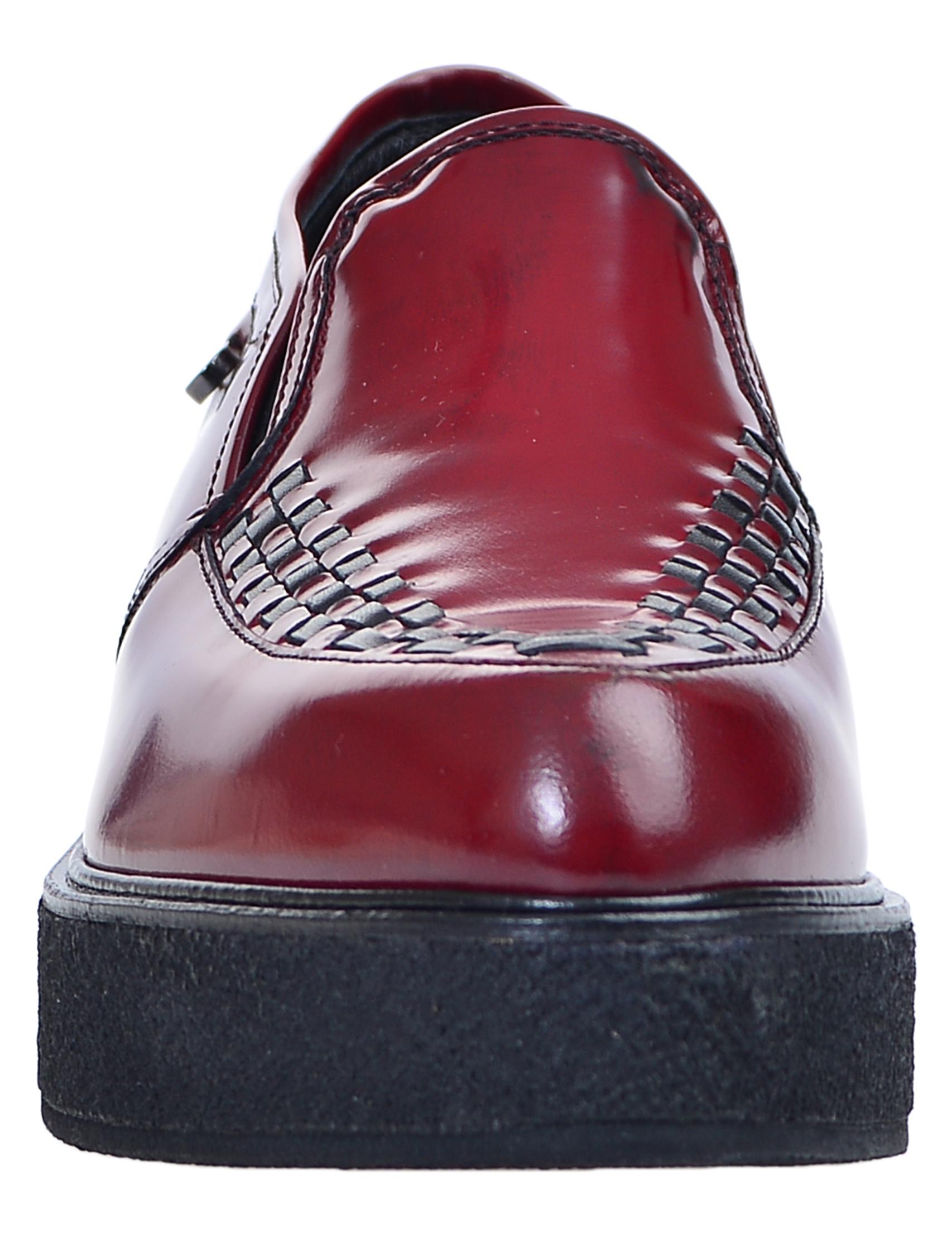 Фото 5 - женские туфли  красного цвета