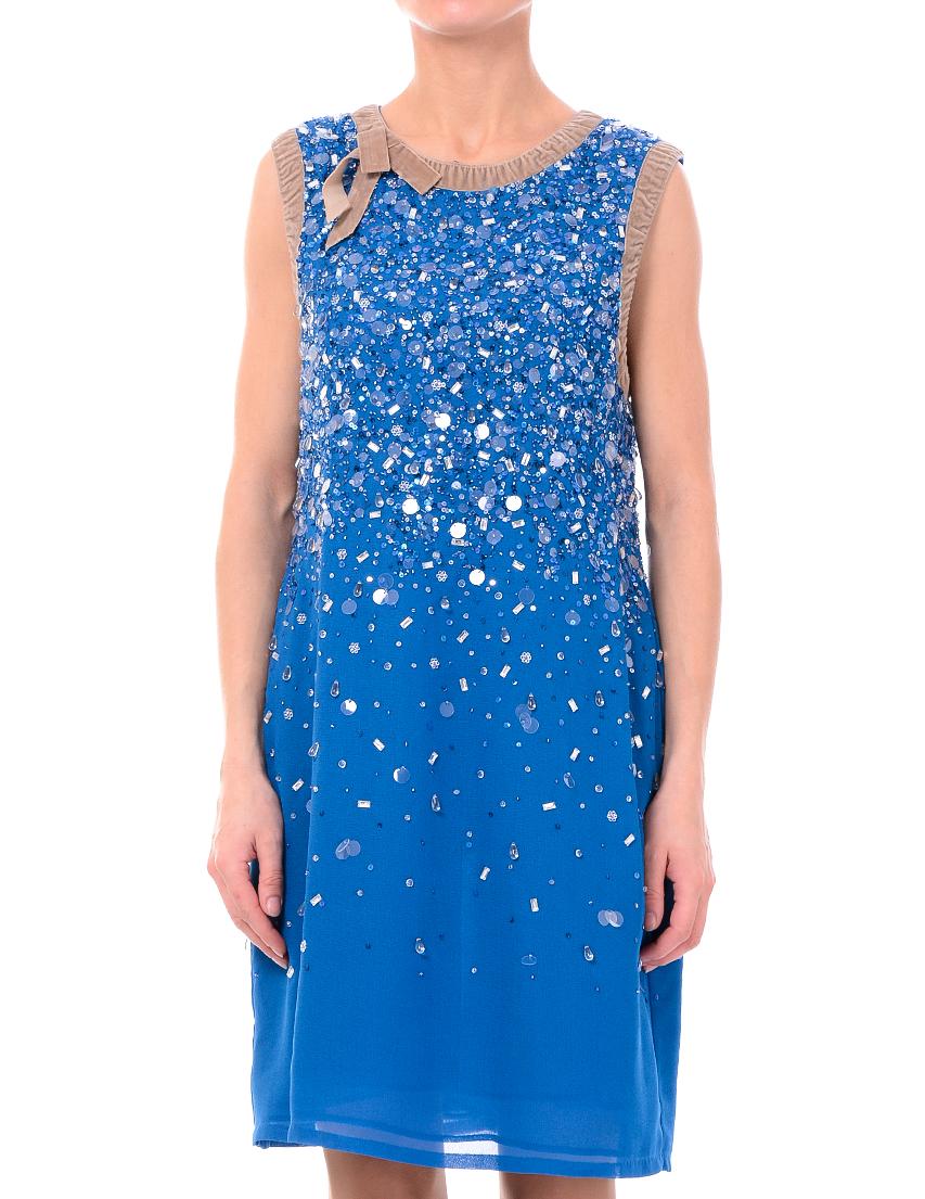 Купить Платье, TWIN-SET, Голубой, 100%Полиэстер, Осень-Зима
