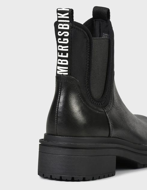 женские черные кожаные Ботинки Bikkembergs B4BKW0013-SANIDA - фото-5