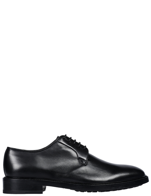 мужские черные кожаные Туфли Brecos 9126 - фото-5