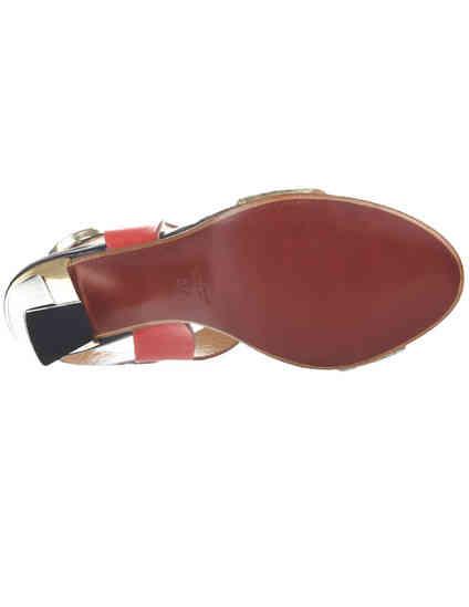 женские многоцветные кожаные Босоножки Fabi 3703_multi - фото-5