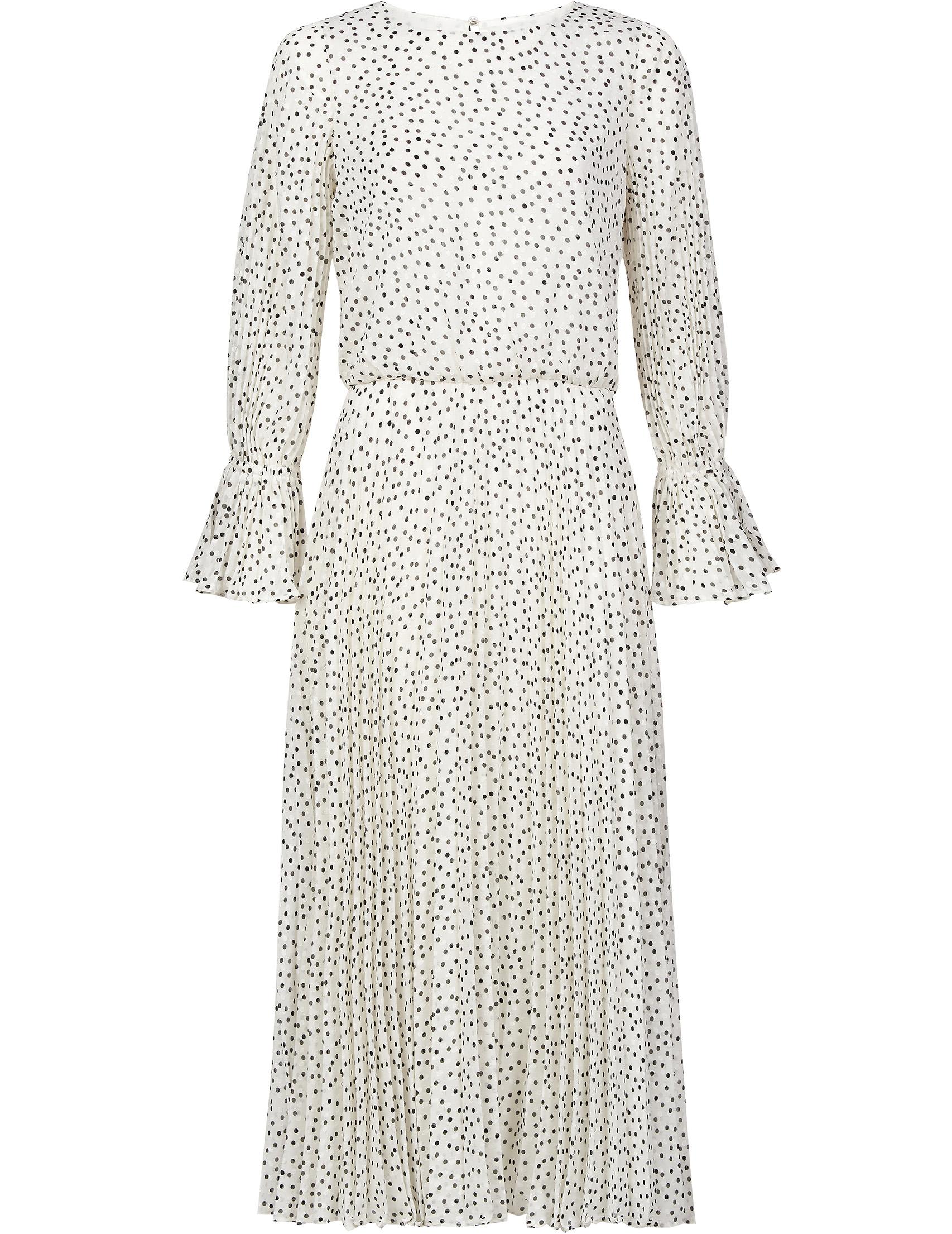 Платья, Платье, EMPORIO ARMANI, Белый, 100%Полиэстер, Осень-Зима  - купить со скидкой