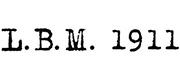 l.b.m. 1911