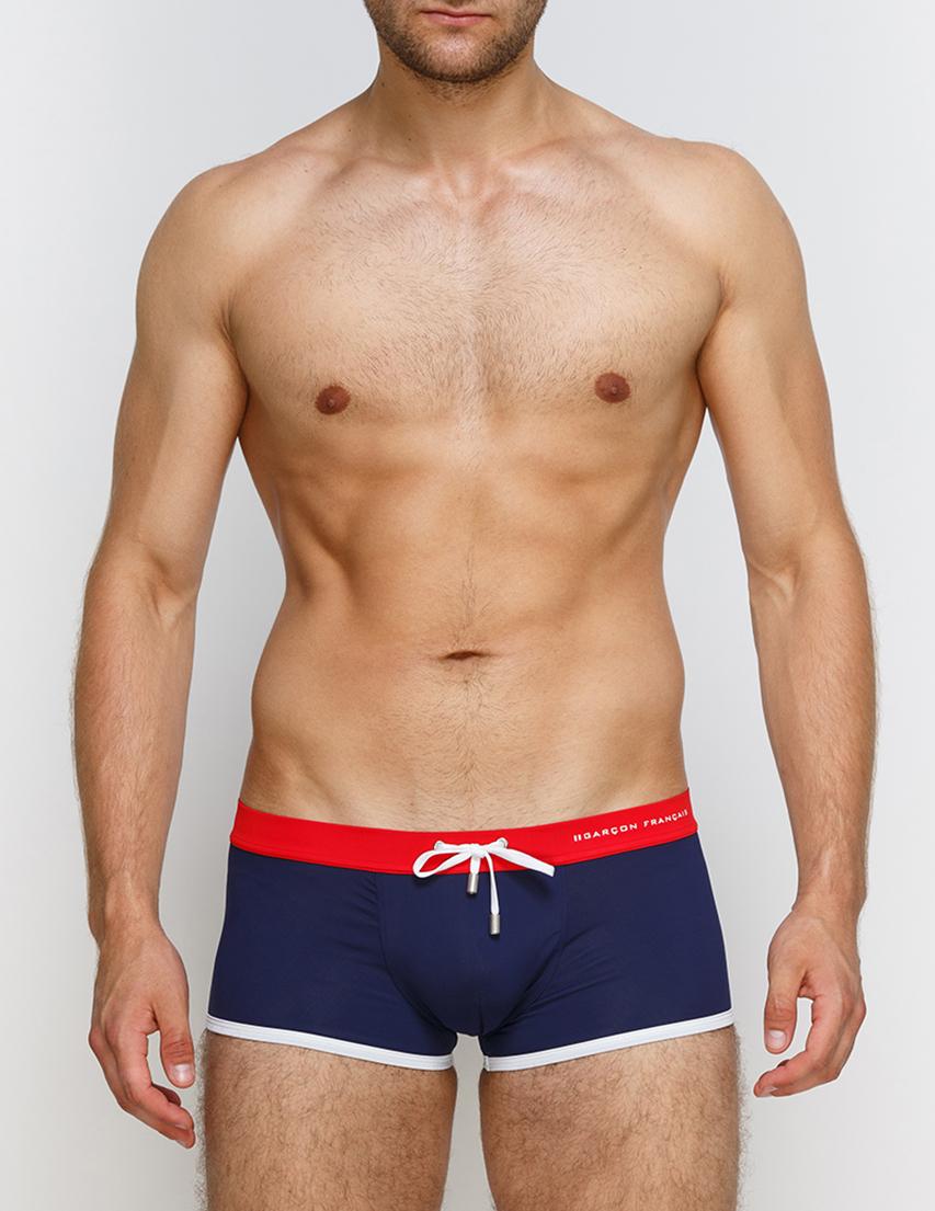 Мужские плавки пляжные GARCON FRANCAIS Boxer-de-Bain17-Tricolore_blue