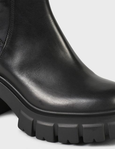 женские черные кожаные Ботинки Loriblu 2I6TM02400-NERO - фото-5