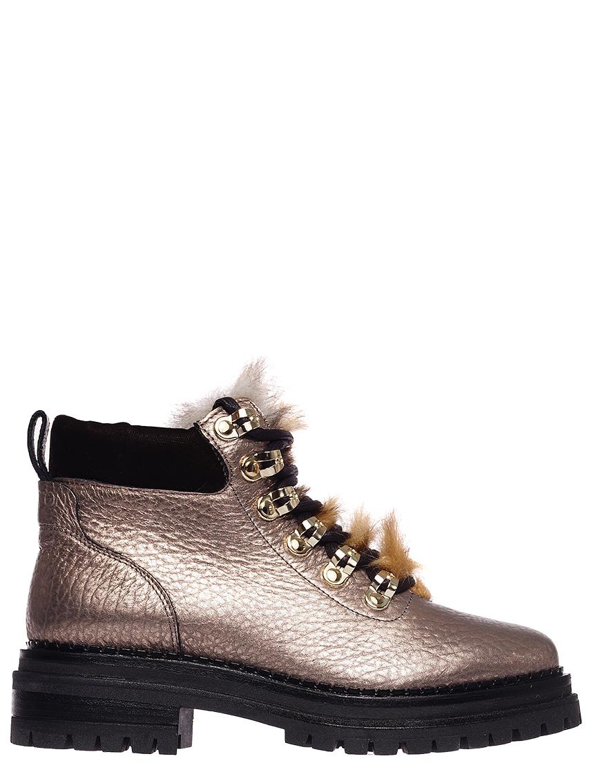 Купить Ботинки, STOKTON, Золотой, Осень-Зима