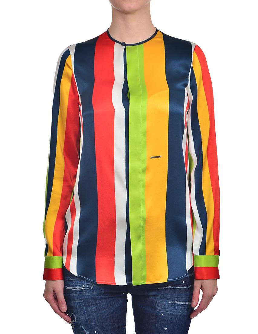 Купить Блуза, DSQUARED2, Многоцветный, 100%Шелк, Осень-Зима