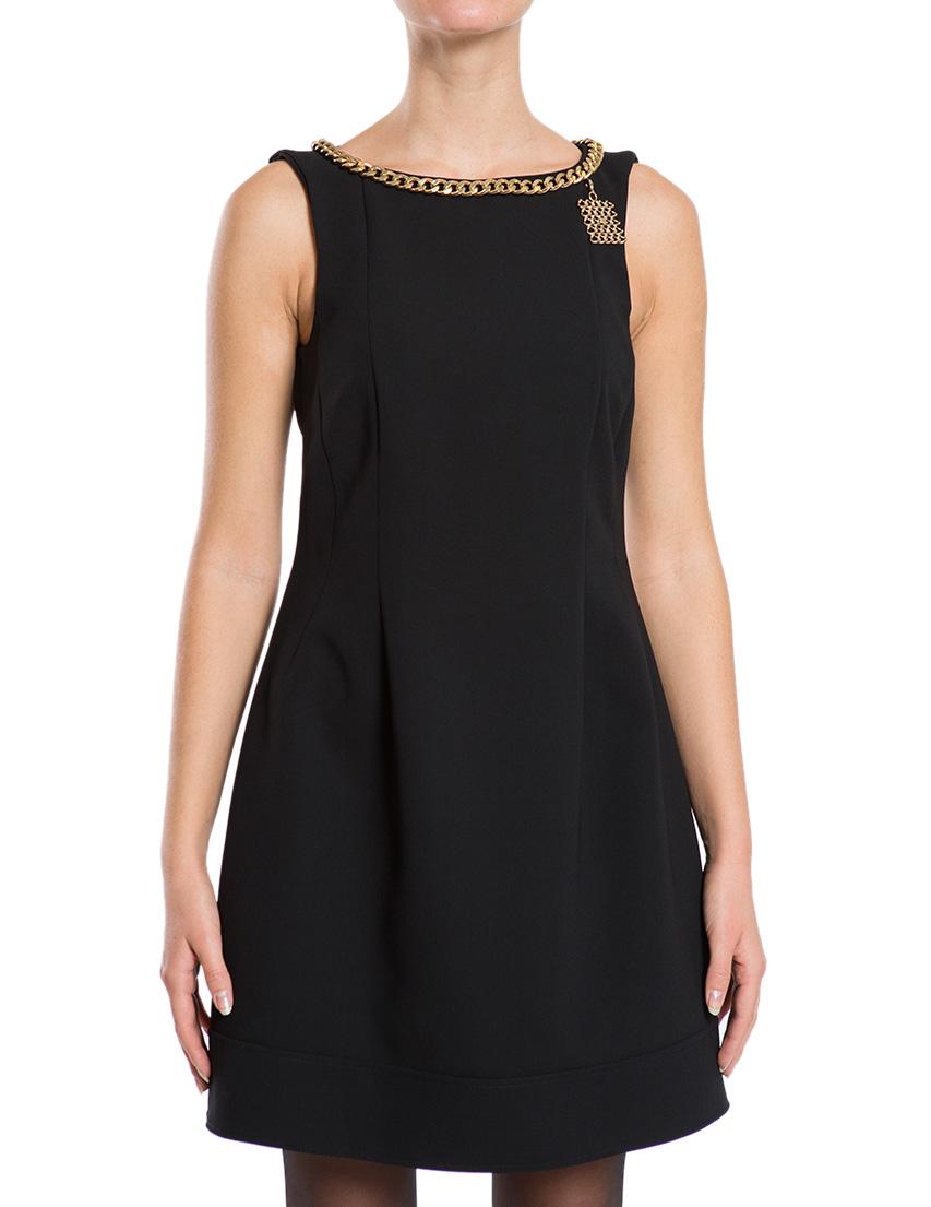 Купить Платье, ELISABETTA FRANCHI, Черный, 100%Полиэстер;94%Полиэстер 6%Эластан, Осень-Зима