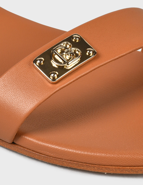 женские коричневые кожаные Босоножки Baldinini 199040XVITE404040RXX - фото-5