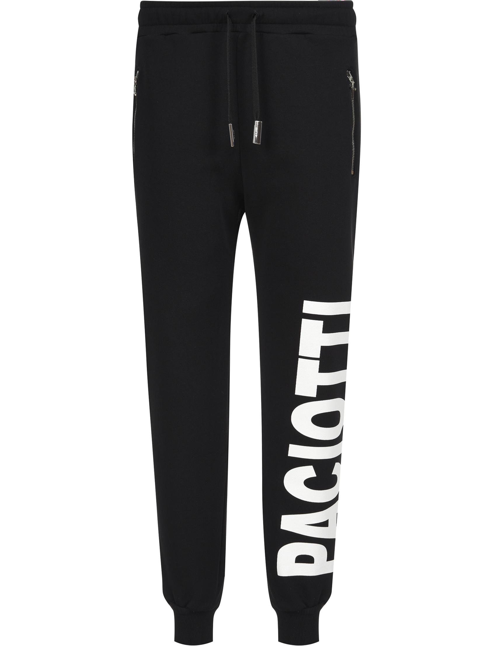 Купить Спортивные брюки, 4US CESARE PACIOTTI, Черный, 100%Хлопок, Весна-Лето