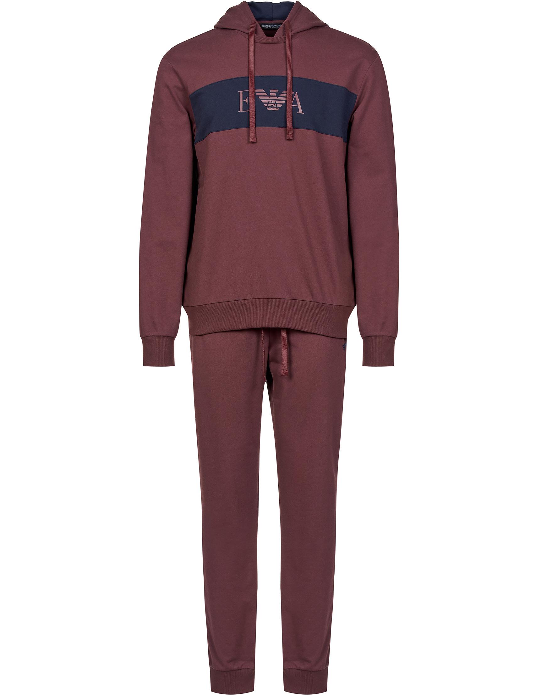 Купить Спортивные костюмы, Спортивный костюм, EMPORIO ARMANI, Бордовый, 60%Хлопок 40%Полиэстер, Осень-Зима