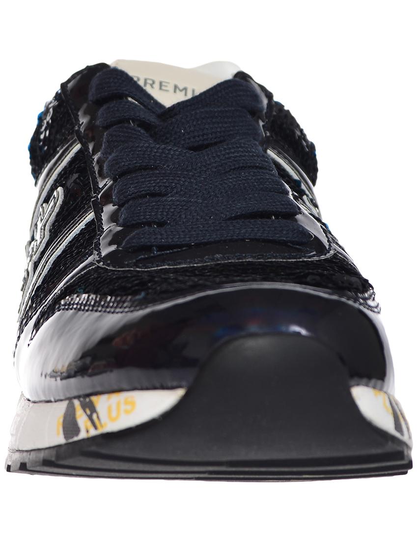 Кожаные чёрные кроссовки PREMIATA (ITALY)