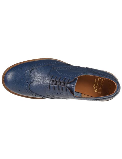 мужские синие кожаные Дерби Doucal'S DU1367PEREUZ109KB00 - фото-5