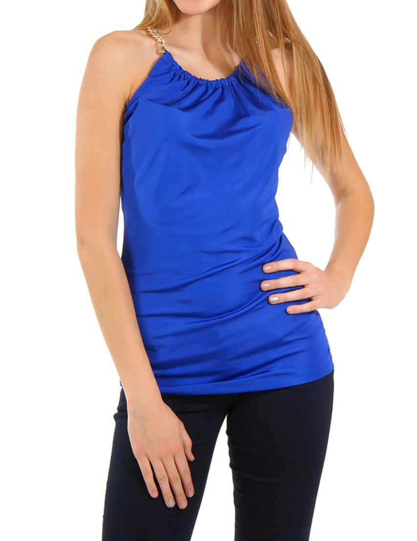 Купить Блуза, GUESS BY MARCIANO, Синий, 100%Вискоза, Весна-Лето