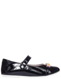 Детские туфли для девочек Moschino 25258_black