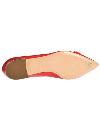 женские красные кожаные Балетки Casadei 1A091K0101Y266736 - фото-5