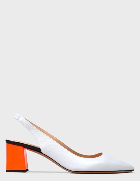 женские белые кожаные Босоножки Fabio Rusconi AGR-WINDOW-corallo-white - фото-5