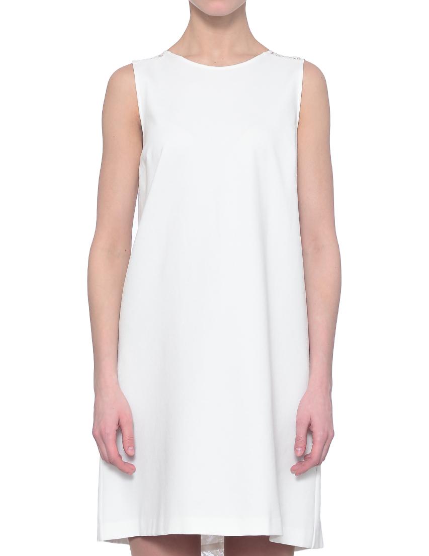Купить Платье, TWIN-SET, Белый, 62%Вискоза 31%Полиамид 7%Эластан, Весна-Лето