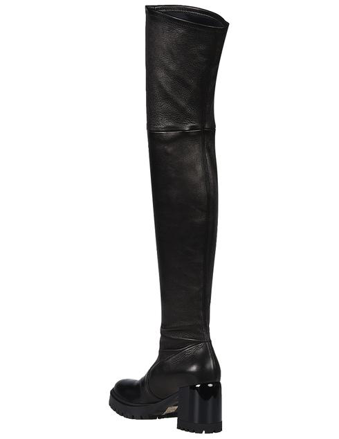 женские черные Ботфорты Casadei 582_black - фото-2