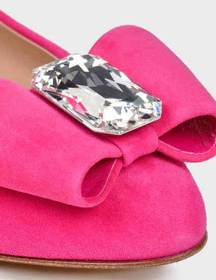 женские розовые Балетки Casadei 178-pink - фото-6