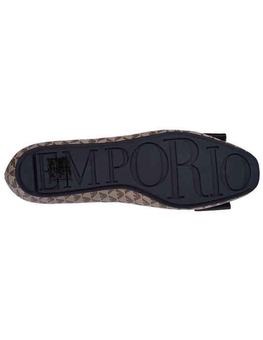 женские коричневые  Балетки Emporio Armani X3D236XM069-R552 - фото-5