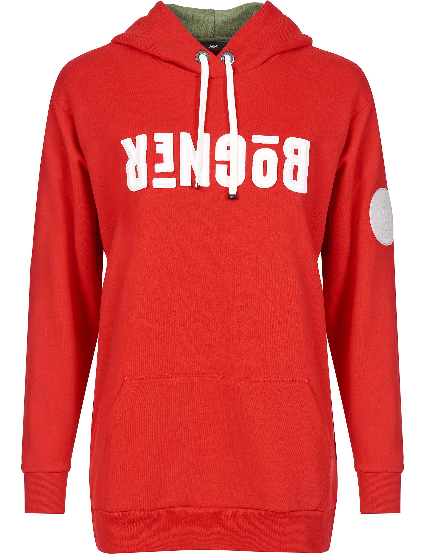 Купить Спортивные кофты, Спортивная кофта, BOGNER, Красный, 100%Хлопок, Осень-Зима