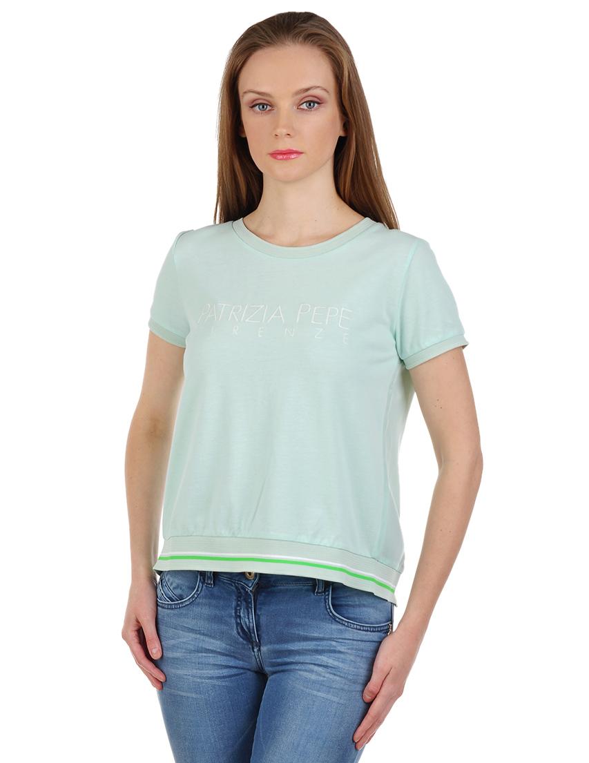 Купить Блуза, PATRIZIA PEPE, Зеленый, 100%Хлопок, Весна-Лето