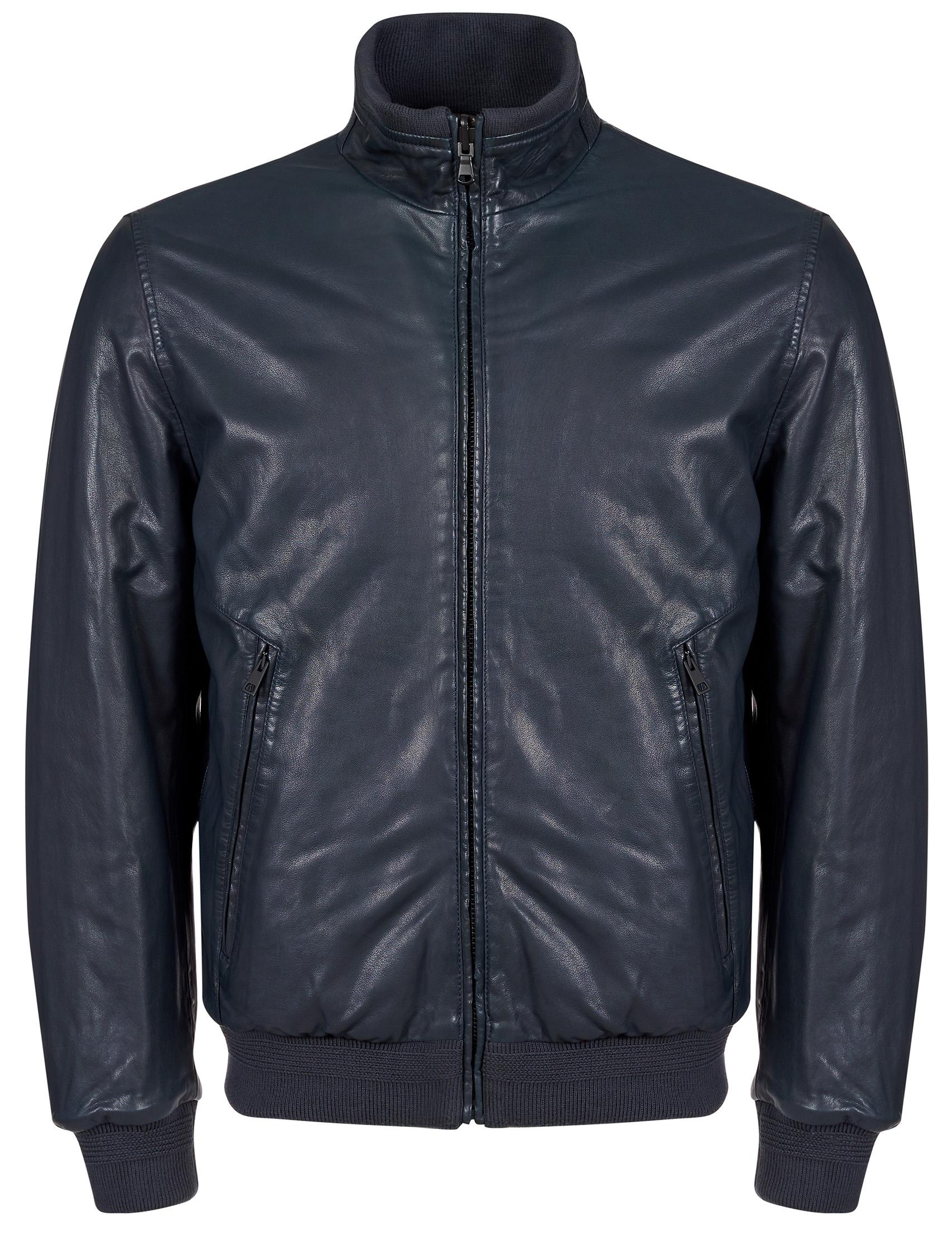 Купить Куртки, Куртка, GALLOTTI, Синий, 100%Кожа;100%Полиэстер;100%Шерсть, Осень-Зима