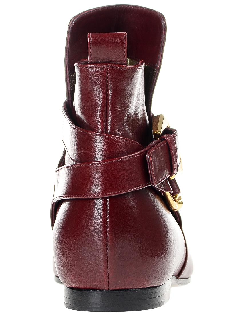 Фото 2 - женские ботинки и полуботинки  бордового цвета
