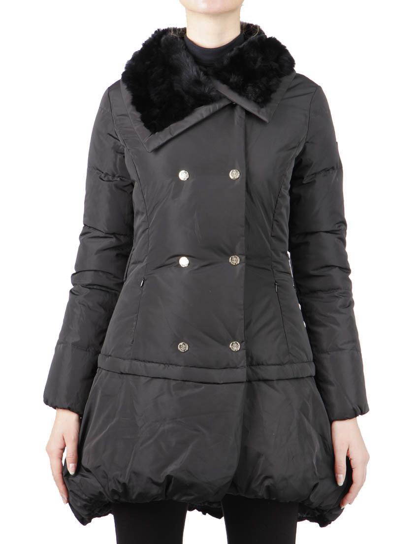 Купить Куртки, Куртка, ELISABETTA FRANCHI, Черный, 100%Полиэстер;80%Пух 20%Перо, Осень-Зима