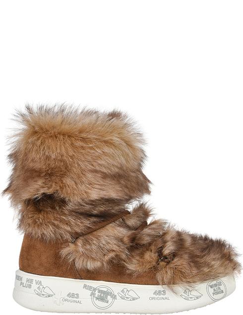 женские коричневые замшевые Ботинки Premiata AGR-DESIREE_4320 - фото-5