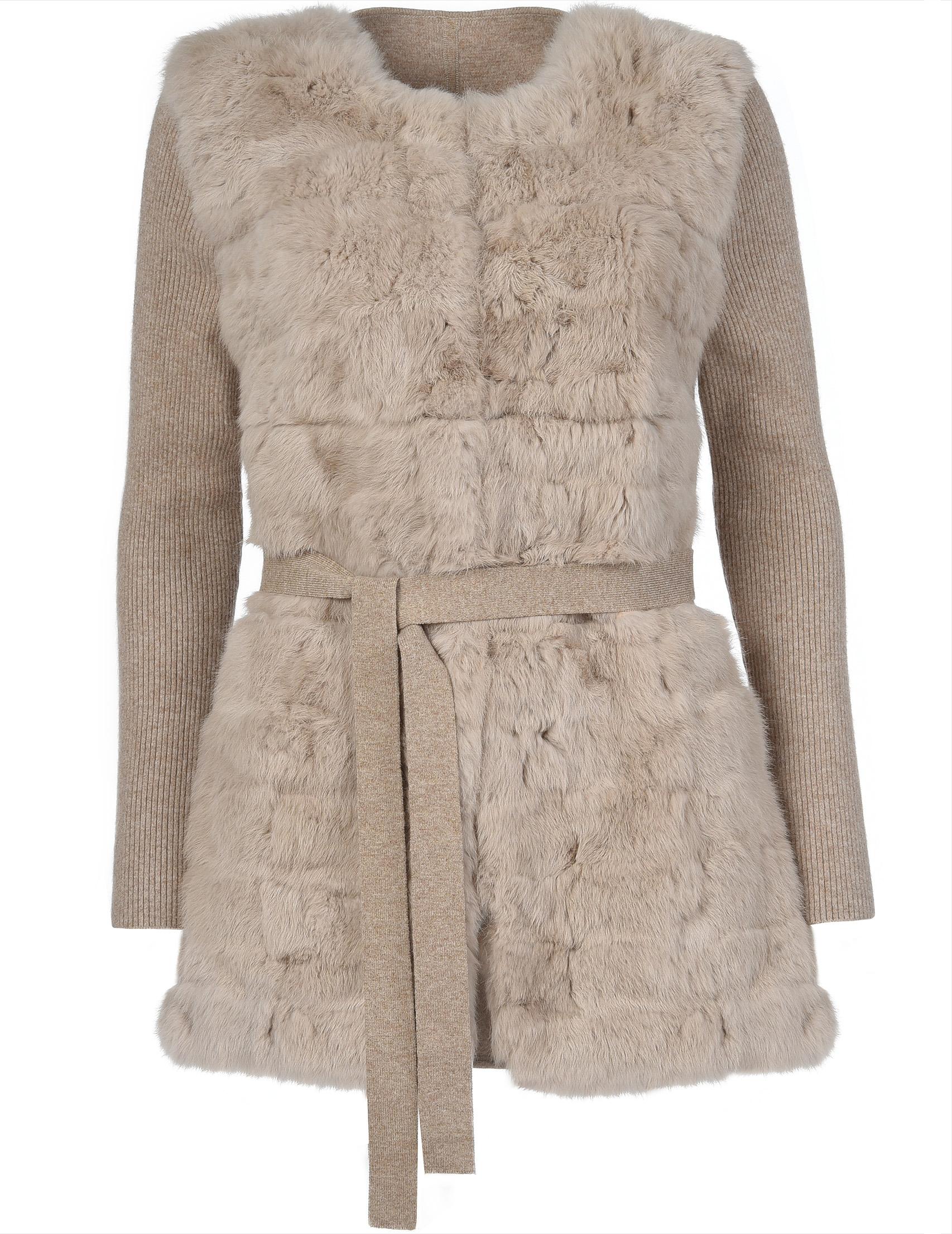 Купить Пальто, GALLOTTI, Бежевый, 38%Полиэстер 26%Шерсть 16%Вискоза 20%, Осень-Зима